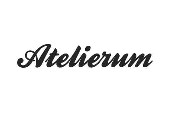 Projekt logo dla studia makijażu i wizażu Atelierum - Bydgoszcz