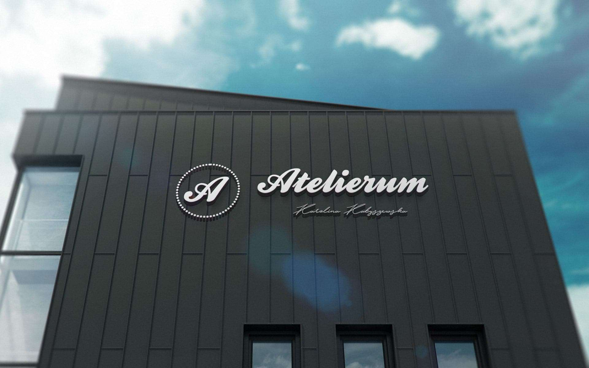 Litery podświetlane 3D - Atelierum Bydgoszcz