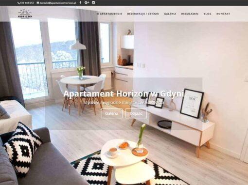 Strona WWW dla Apartamentu Horizon