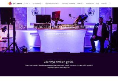 Strona internetowa dla Art of Show