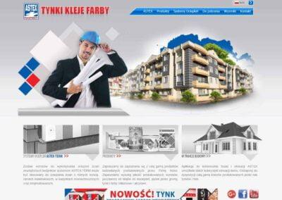 Strona WWW dla firmy Astex