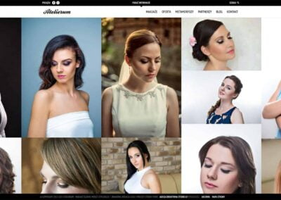 Strona WWW dla studia makijażu i wizażu Atelierum