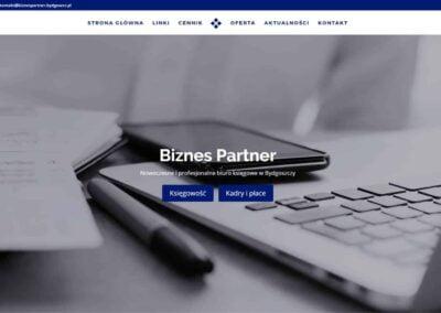Strona WWW dla Biznes Partner