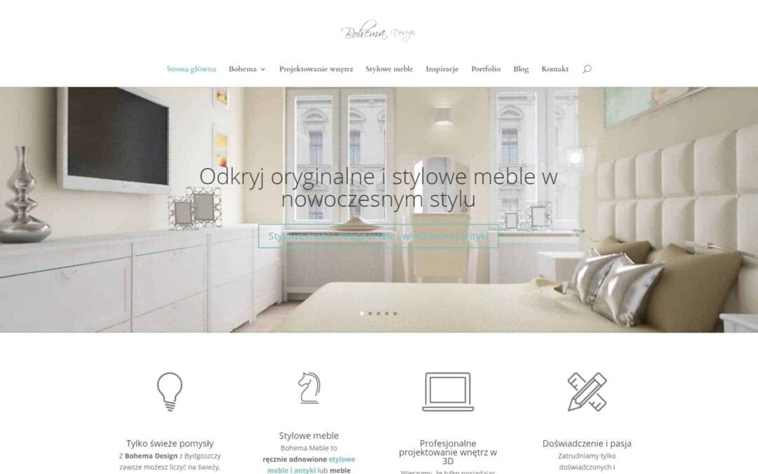Strona WWW dla Bohema Design