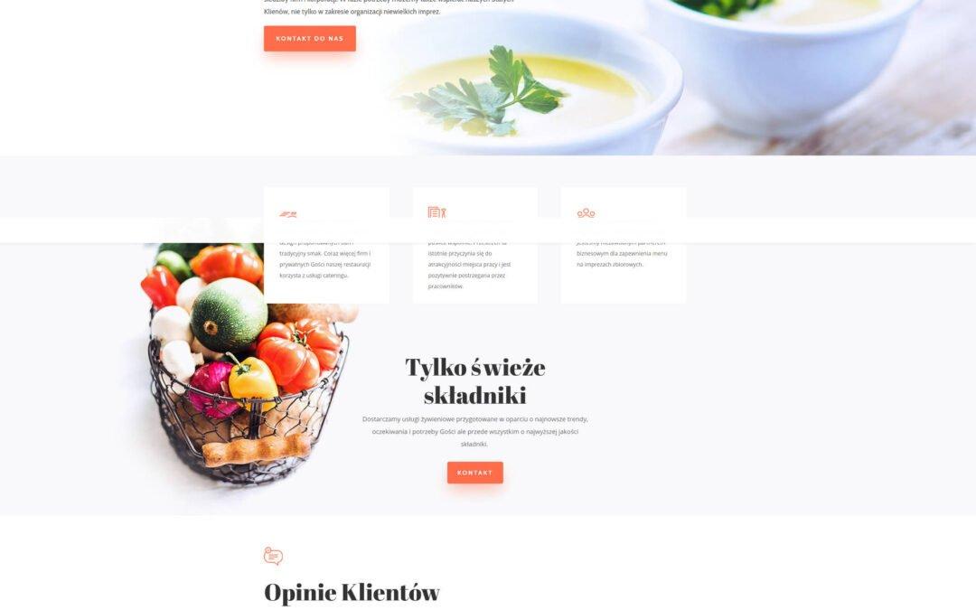 Strona WWW dla Catering Lewandowski