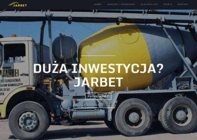 Strona WWW dla firmy budowlanej Jarbet