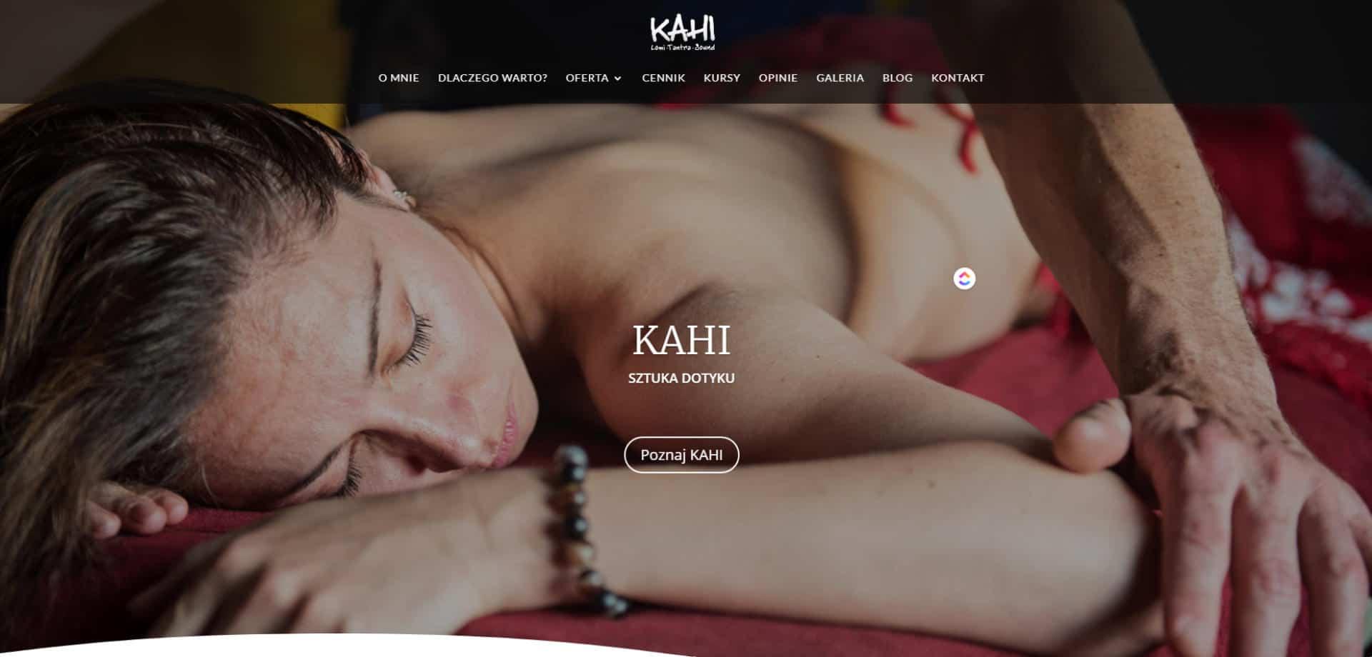 Strona WWW dla KAHI (masaż hawajski i tantryczny)
