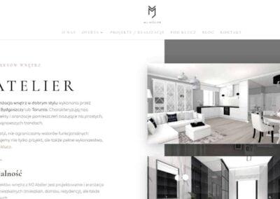 Strona WWW dla MJ Atelier