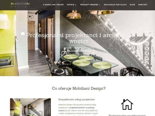 Strona WWW dla Mobiliani Design