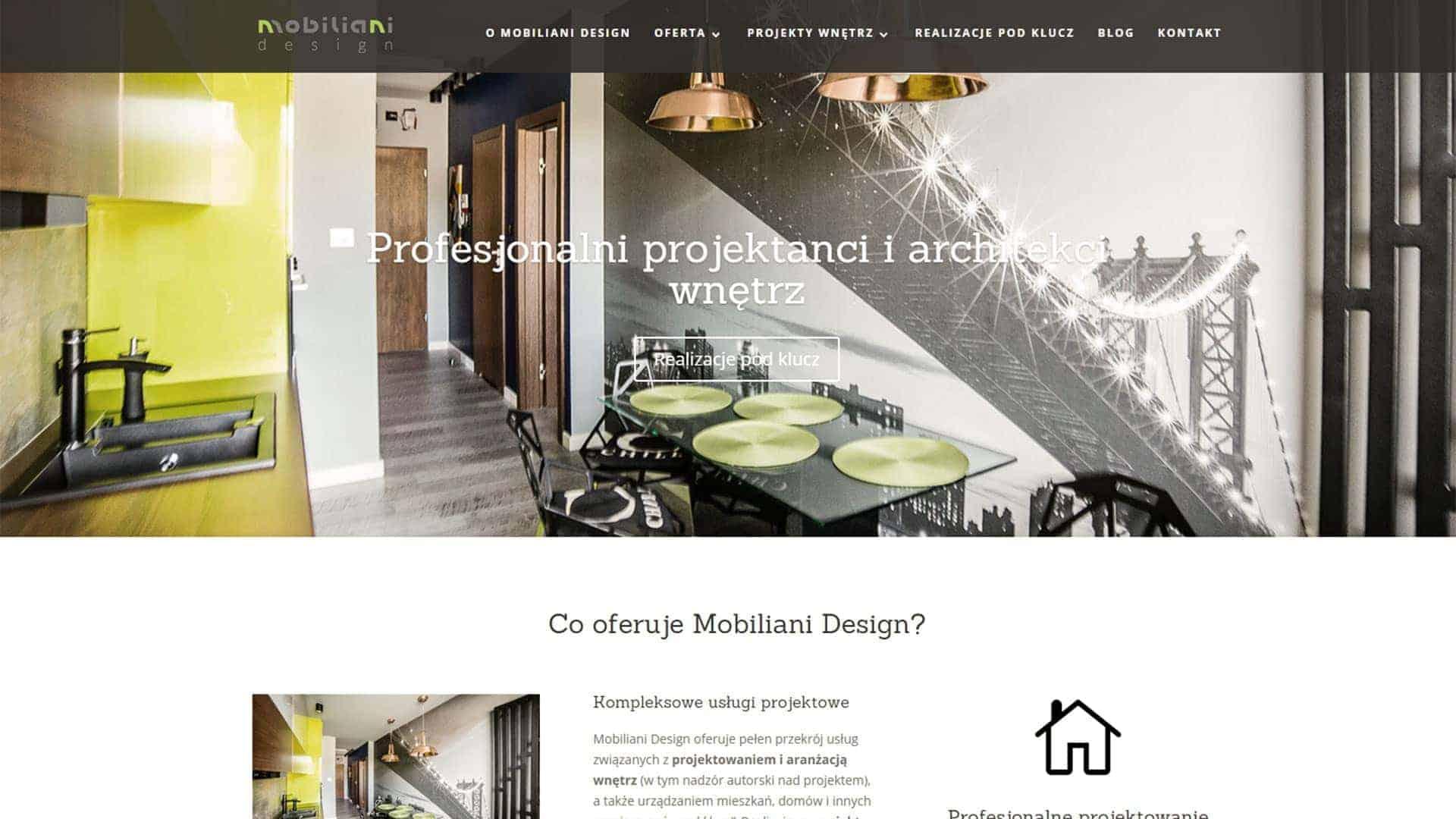 Firmowa strona WWW dla Mobiliani Design z Bydgoszczy