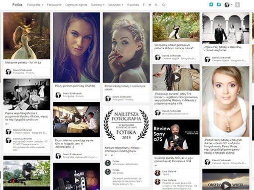 Portal fotograficzny Fotika