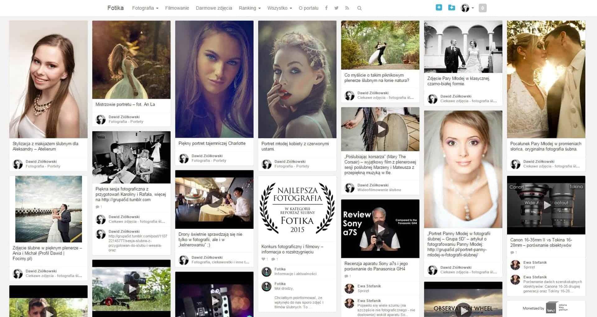 Portal internetowy dla fotografów - Fotika