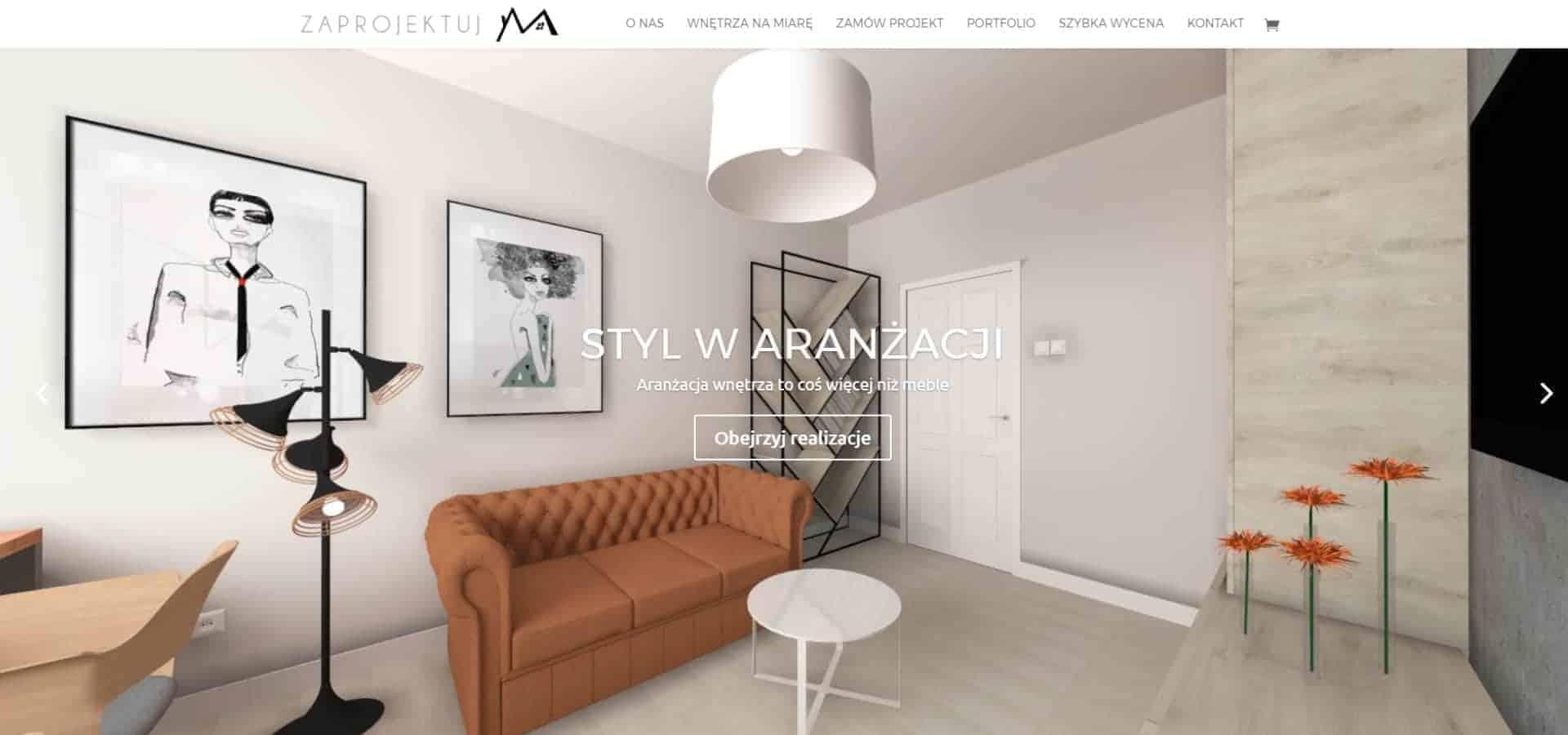 Portal z usługami projektowania wnętrz - Zaprojektuj M - drugi slider