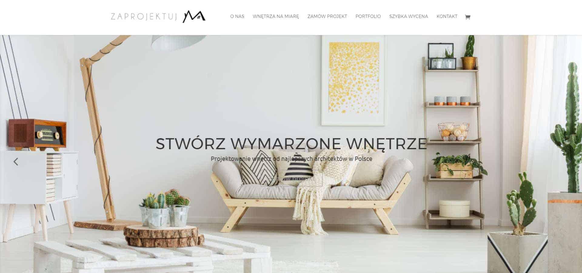 Portal z usługami projektowania wnętrz - Zaprojektuj M - slider