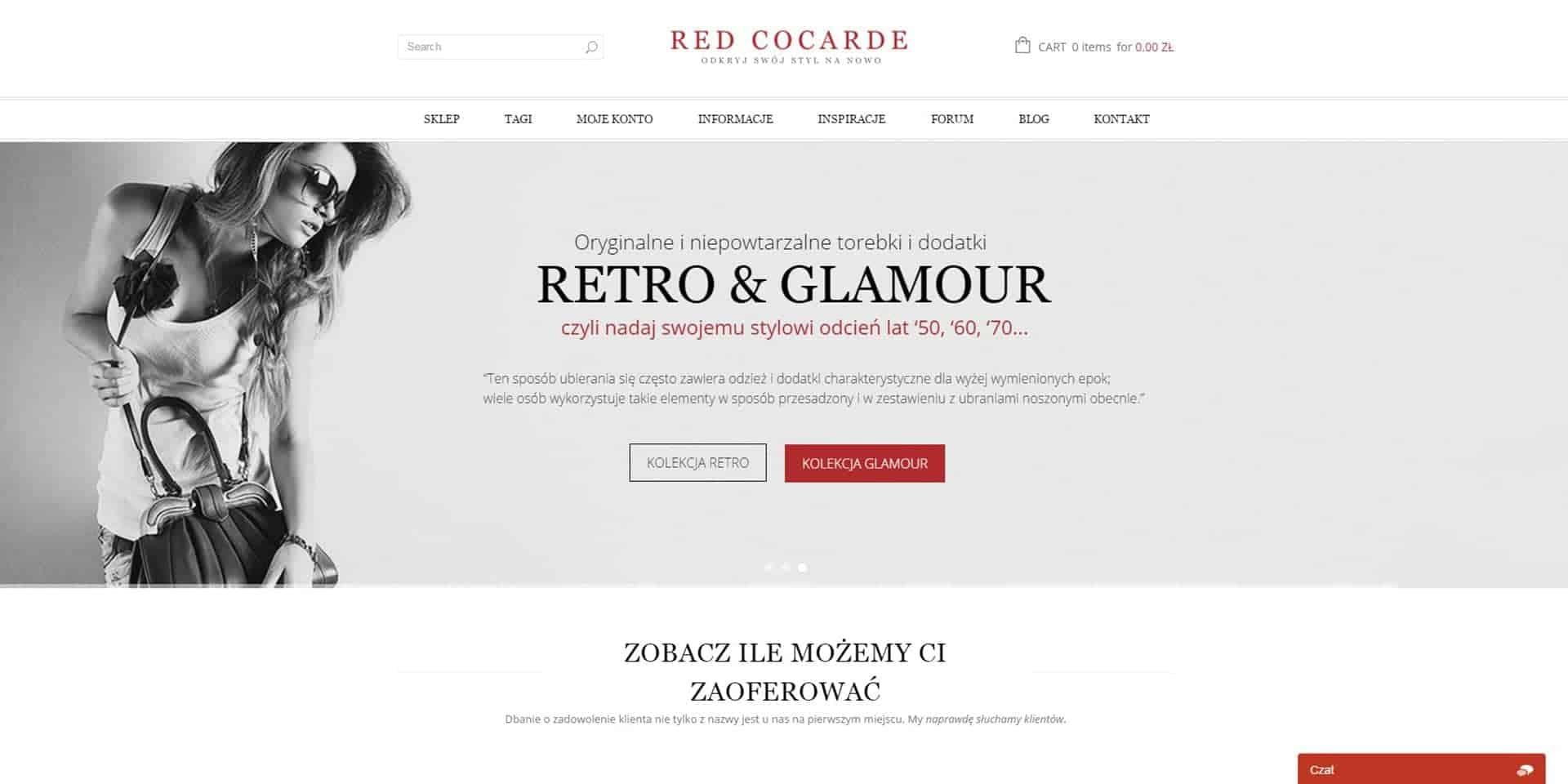 Sklep internetowy Red Cocarde - stylowe torebki i dodatki