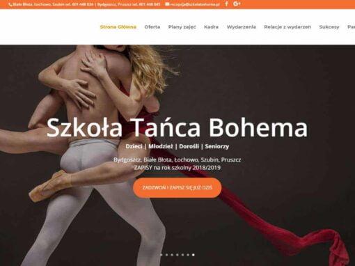 Strona WWW dla Szkoły Tańca Bohema